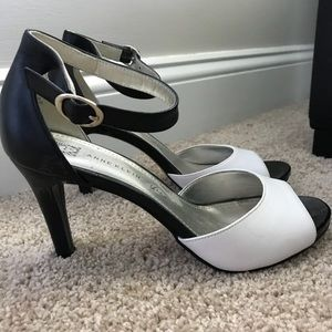 ca1e0cd7fa2 Anne Klein Shoes - Anne Klein Black and White Strappy Heels
